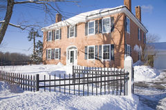 New England brick home Royalty Free Stock Images