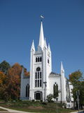 New England Church. A beautiful church in New England on a Royalty Free Stock Photo