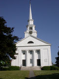 New England Church. Classic New England Architecture, Church in Chelmsford Massachusetts stock image