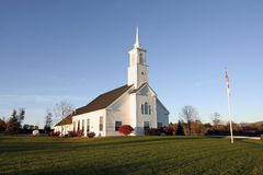 New England Church in Autumn Royalty Free Stock Photo