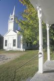 A New England Church in Autumn Royalty Free Stock Images