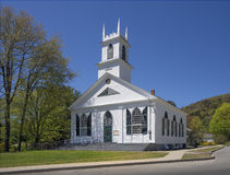 New England church. New England white wooden church in Newfane, Vermont, USA Stock Photo