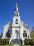 New England church. New England white wooden church in Vermont, USA Royalty Free Stock Image