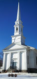New England Church in Winter Stock Photography