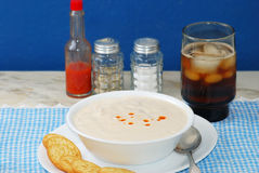 New England Clam Chowder Stock Photography