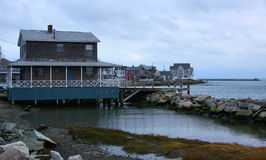 New England Coastal Homes Stock Image