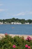 New England Coastline. View of scenic New England coastal neighborhood Royalty Free Stock Photos
