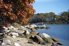 New England coastline Stock Photos