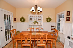 New England Dining Room. New England Style Dining room Royalty Free Stock Image
