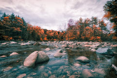 New England in fall. Fall foliage in New Hampshire, New England Stock Photography