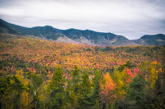 New England in fall. Fall foliage in New Hampshire, New England Royalty Free Stock Image