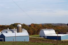 New England Farm in Fall Stock Image