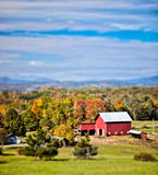 New England farm. Generic looking colonial style dairy farm in New England, America Royalty Free Stock Image