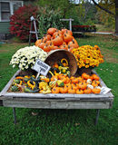 New England Farm Stand. A local farm stand in a small New England town in the fall Royalty Free Stock Photo