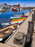 New England fishing village Stock Images