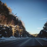 New England Getaway. Backroads of New Hampshire Stock Photo