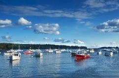 New England hamn Arkivfoto