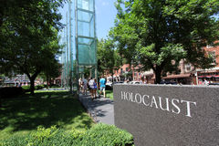 New England Holocaust Memorial Boston MA stock images