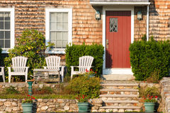 New England Home. Front view of a typical New England home Stock Images