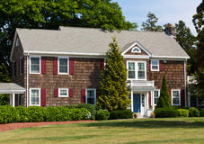 New England House. Wood shingled house in the New England area Stock Image