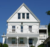 New England House. A traditional white Cape Cop House in Provincetown, Massachusetts Stock Photography
