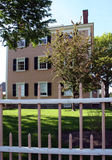 New England House. House in Salem, MA with fence royalty free stock images