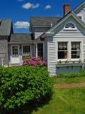 New England house. And yard, Mount Desert Island, Acadia National Park,  Maine Stock Photo