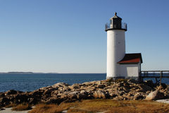 New England Light House. On clear day Royalty Free Stock Images