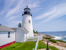 New England Light. One of the many lighthouses along the New England coastline royalty free stock photos