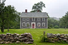 Martha's Vineyard mansion. New England mansion on a foggy afternoon at Martha's Vineyard Stock Photography