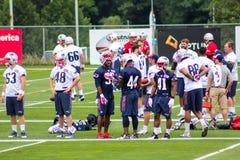 New England Patriots die Kamp opleiden Stock Afbeeldingen