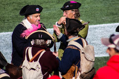 New England Patriots End Zone Militia Royalty Free Stock Image