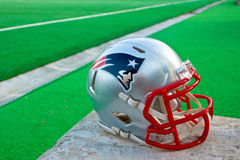 New England patriots helmet royalty free stock photography