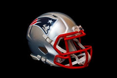 New England Patriots-Sturzhelm Stockfoto