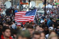 New England Patriots 53th Super Bowl Championship Parade in Boston on Feb. 5, 2019 royalty free stock photos