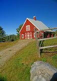 New England red barn Royalty Free Stock Photography