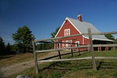 New England red barn Stock Photos