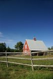 New England red barn Royalty Free Stock Photos