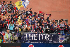 New England Revolution fans. Stock Photography
