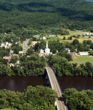 New England scenery. A view from Mount Sugarloaf, New England USA Stock Images