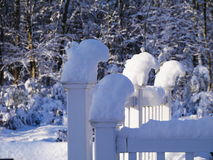 New England Snow Stock Photo