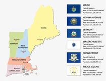 New england states map Stock Photo