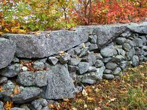 New England stonewall. Royalty Free Stock Photos