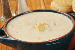 New England Style Clam Chowder Royalty Free Stock Photography