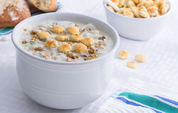 New England style clam chowder Stock Image