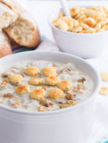 New England style clam chowder Stock Images