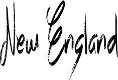 New England text sign illustration royalty free stock photography