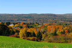 New England town in the fall. Fall view of a little New England town Royalty Free Stock Photos