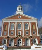 New England Town Hall. The town hall at Peterborough, New Hampshire stock photos