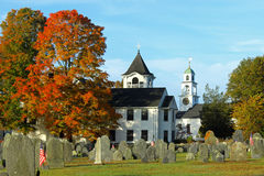 New England Town. A small New England Town on a sunny day in Fall Stock Photos